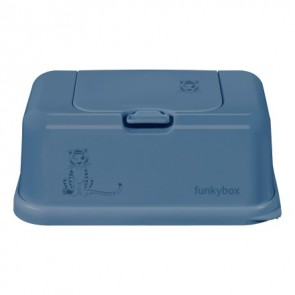 FunkyBox Wipe Dispenser Jeans Blue with Tiger
