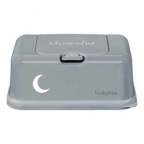 FunkyBox Wipe Dispenser Grey To The Moon