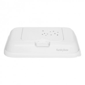 FunkyBox Wipe Dispenser To Go Tiny Stars White