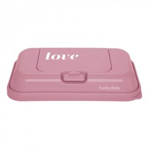 FunkyBox Wipe Dispenser To Go Vintage Pink with Love