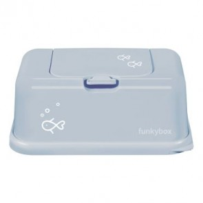FunkyBox Wipe Dispenser Vintage Blue with Fish