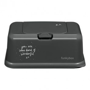FunkyBox Wipe Dispenser Dark Grey with Wonderful