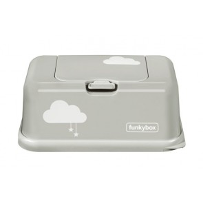 FunkyBox Wipe Dispenser Lightgrey Clouds