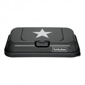 FunkyBox Wipe Dispenser To Go Dark Grey Star