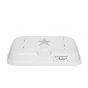 FunkyBox Wipe Dispenser To Go White Stars