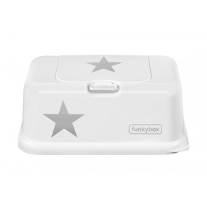 FunkyBox Wipe Dispenser White Stars