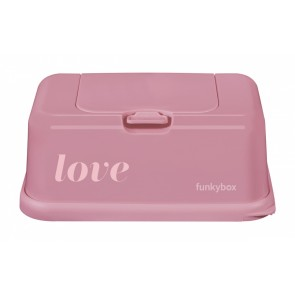 FunkyBox Wipe Dispenser Vintage Pink with Love