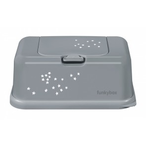 FunkyBox Wipe Dispenser Grey Little Stars