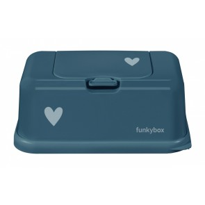 FunkyBox Wipe Dispenser Petrol with Little Heart