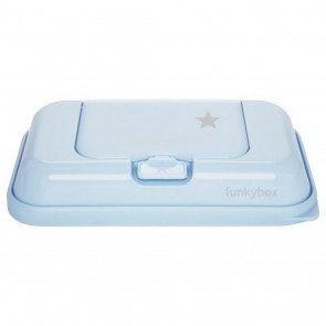 FunkyBox Wipe Dispenser To Go Pale Blue Little Star