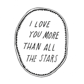 'I love you more than all the stars' Wall Decal in Black