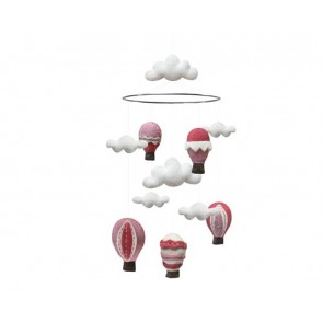 Airballoon Mobile in Dusty Pink
