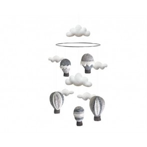 Airballoon Mobile in Grey
