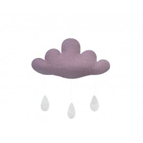 Cloud with Drops in Light Purple