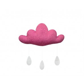 Cloud with Drops in Pink