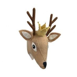 Beige Deer Head Wall Decoration
