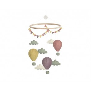 Airballoon Cloud Mobile in Pastel