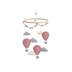 Airballoon Cloud Mobile in Pink