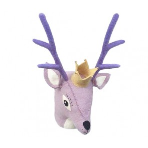 Purple Deer Head Wall Decoration