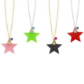 Glitter Star Pendant Necklace