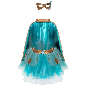Super-Duper Tutu Cape and Mask Set in Teal & Copper