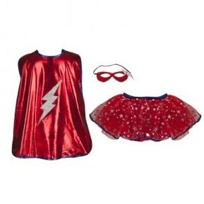 Superhero Tutu Cape and Mask Set