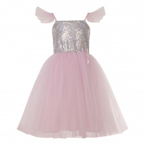 Princess Silver Sequin Dress