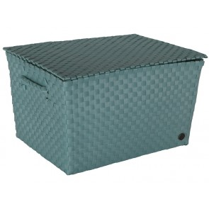Super Big Ancona Basket in Stone Green