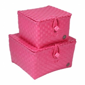 A Set of 2 Pisa Baskets in Pink