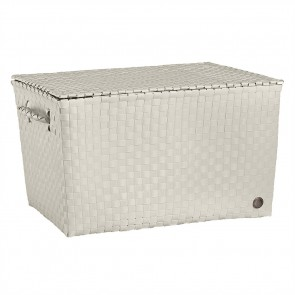Super Big Ancona Basket in Pale Grey