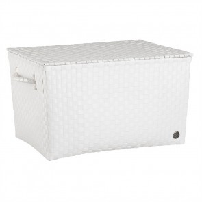 Super Big Ancona Basket in White