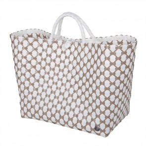 Lima Shopper in White with Liver Pattern