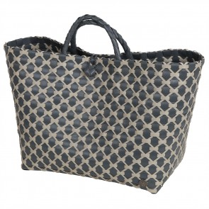 Lima Shopper in Dark Grey with Pale Grey Pattern