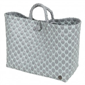 Lima Shopper in Flint Grey with Greyish Green Pattern