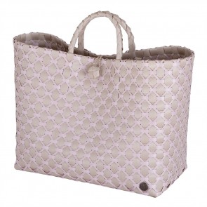 Lima Shopper in Pale Grey with Nude Pattern