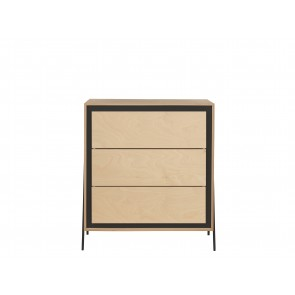 Square Chest of Drawers in Black