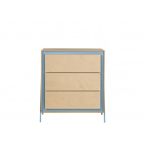 Square Chest of Drawers in Blue