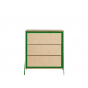 Square Chest of Drawers in Green