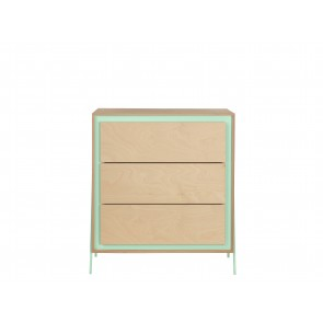 Square Chest of Drawers in Mint