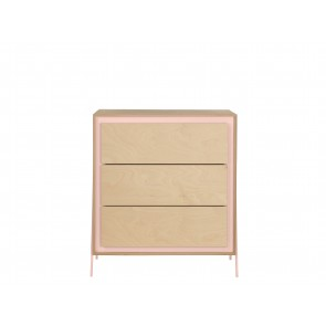Square Chest of Drawers in Pink