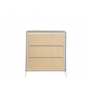 Square Chest of Drawers in White