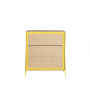 Square Chest of Drawers in Yellow