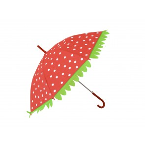 Cheerful Red Umbrella with White Dots
