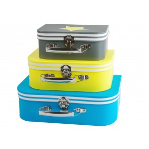 Set of 3 Star Suitcases