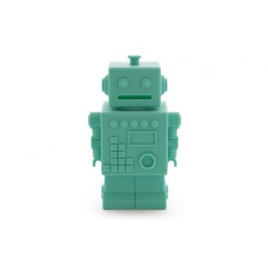 Robot Money Box in Aqua