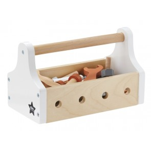 Wooden Tool Box in White