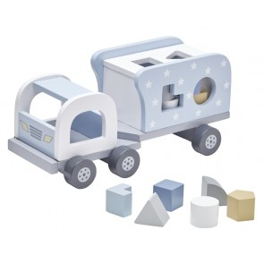 Blue Wooden Shape Sorter Truck