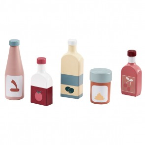Wooden Toy Bottle Set