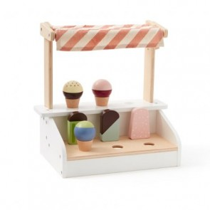 Wooden Ice Cream Stand with Lollies and Cones
