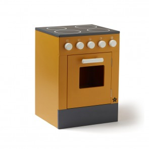 Wooden Bistro Kitchen Stove in Yellow
